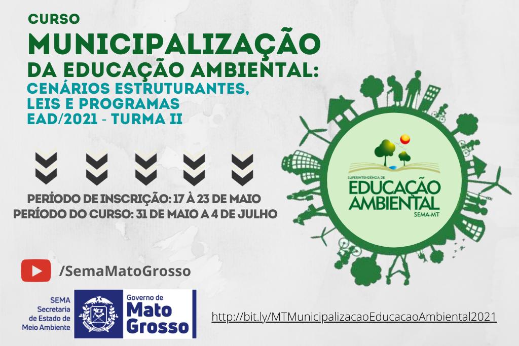 Sema abre inscrições para curso de Municipalização da Educação Ambiental