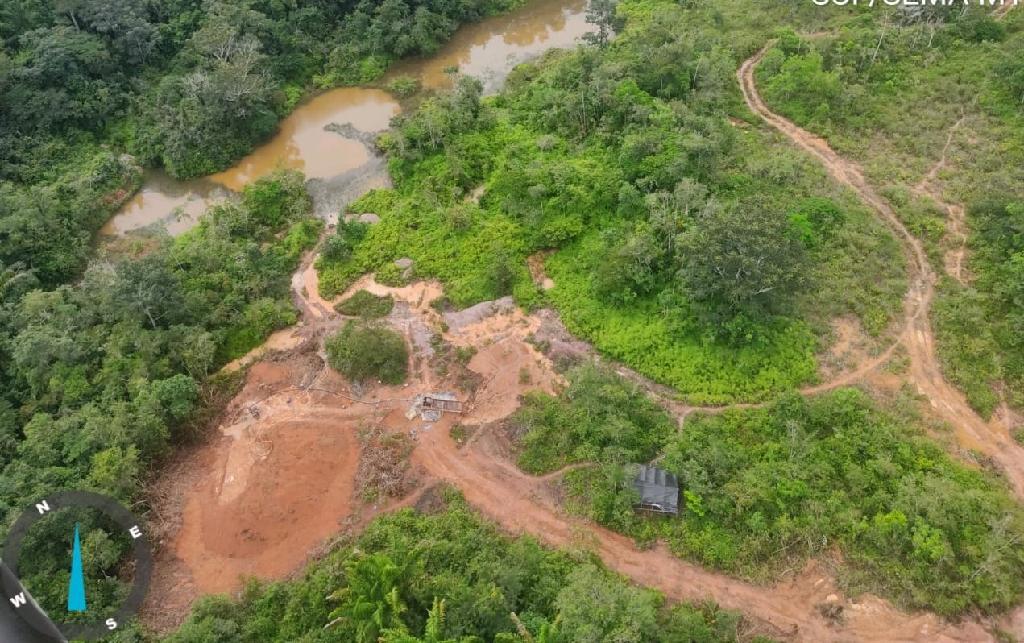 Sema e Ciopaer desativam garimpo ilegal em Parque Estadual Igarapés do Juruena