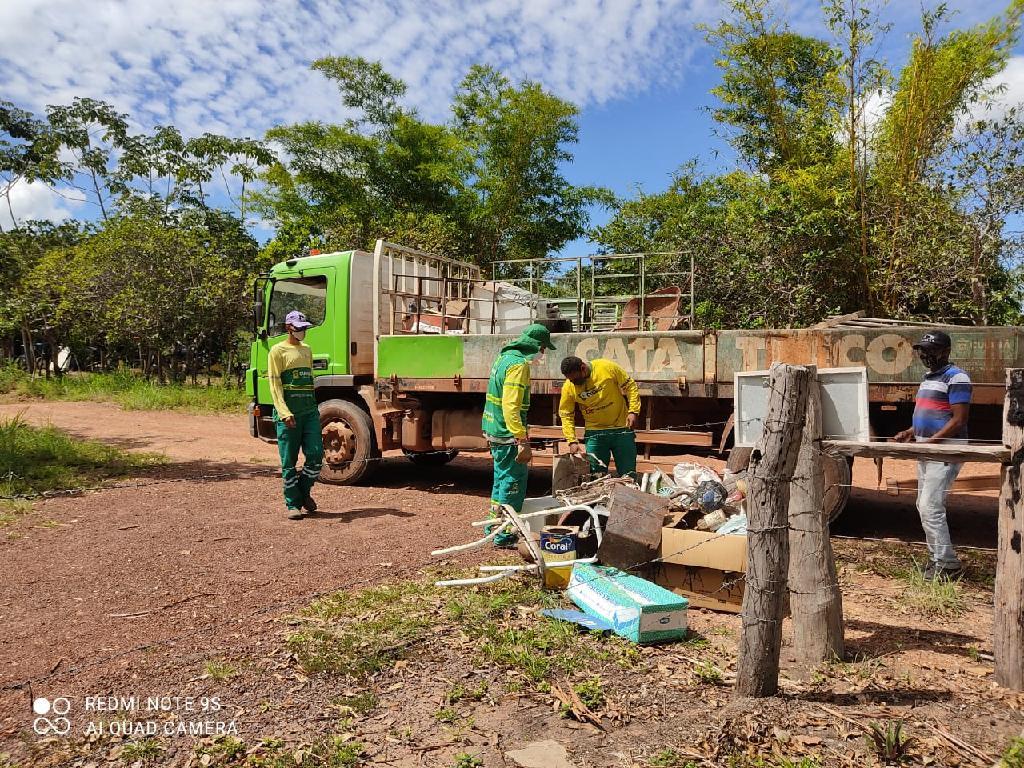 Ação na Comunidade São Jerônimo recolhe 1 tonelada de resíduos recicláveis